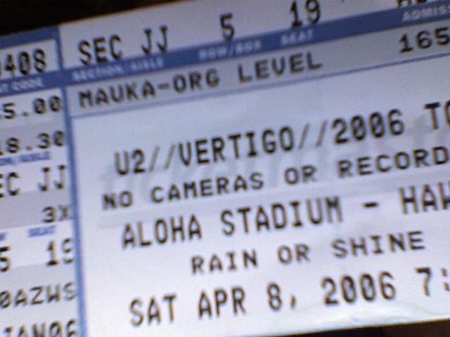 u2 aloha stadium