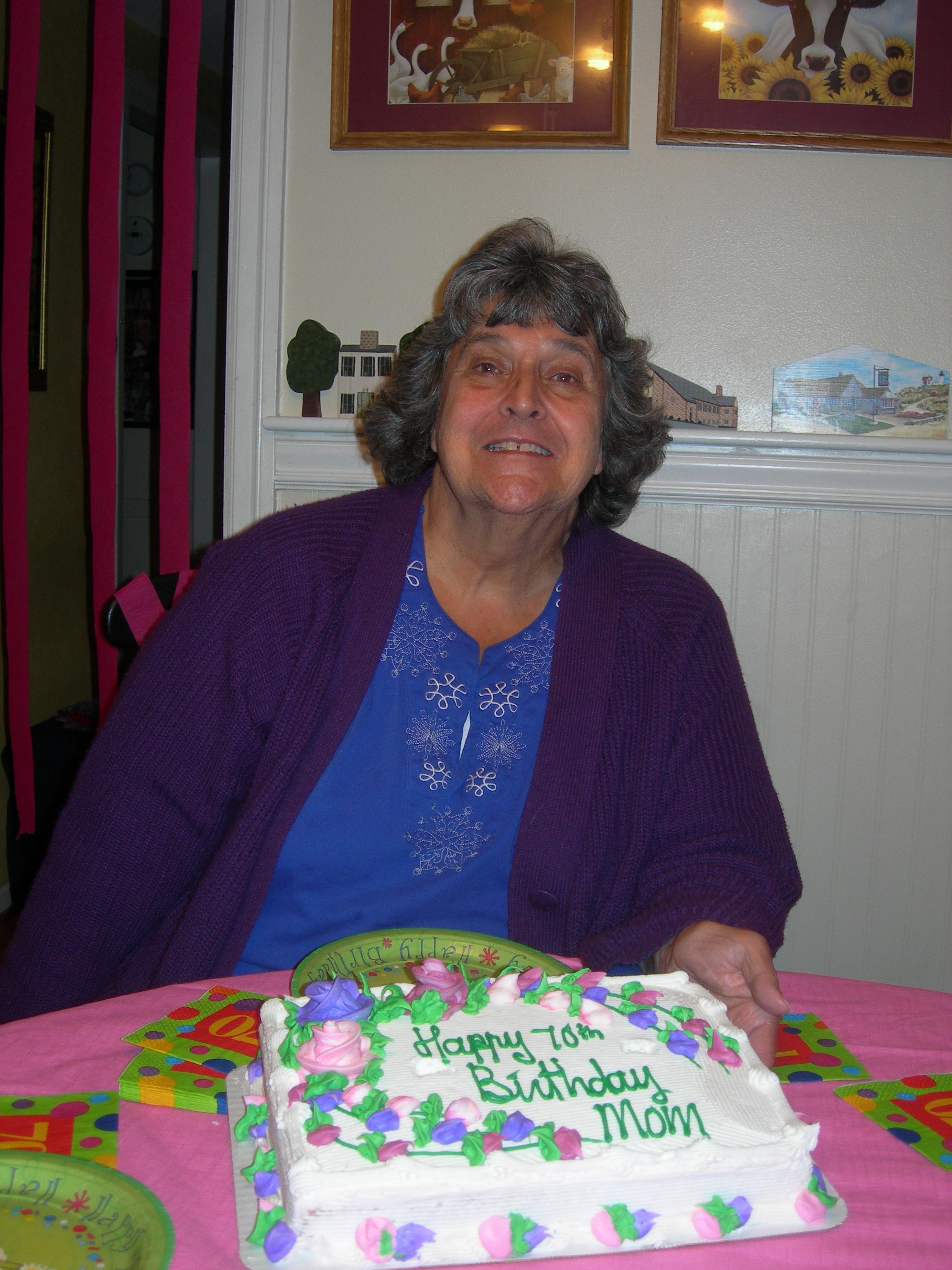 Happy 70th Birthday To My Mom Crushmonkey S Blog