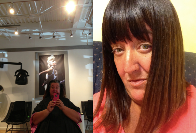cut, color and keratin
