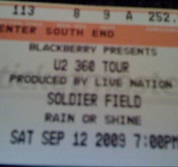 u2 sept 9, 2009