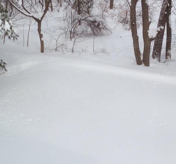 four plus feet of snow