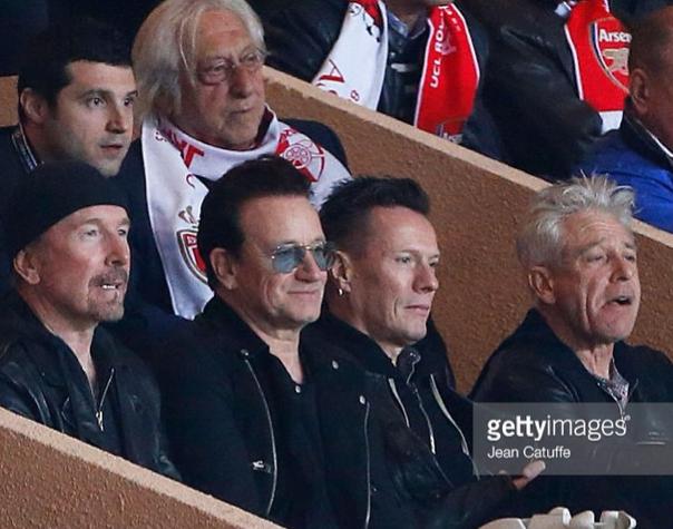 U2 in Monaco Football Match