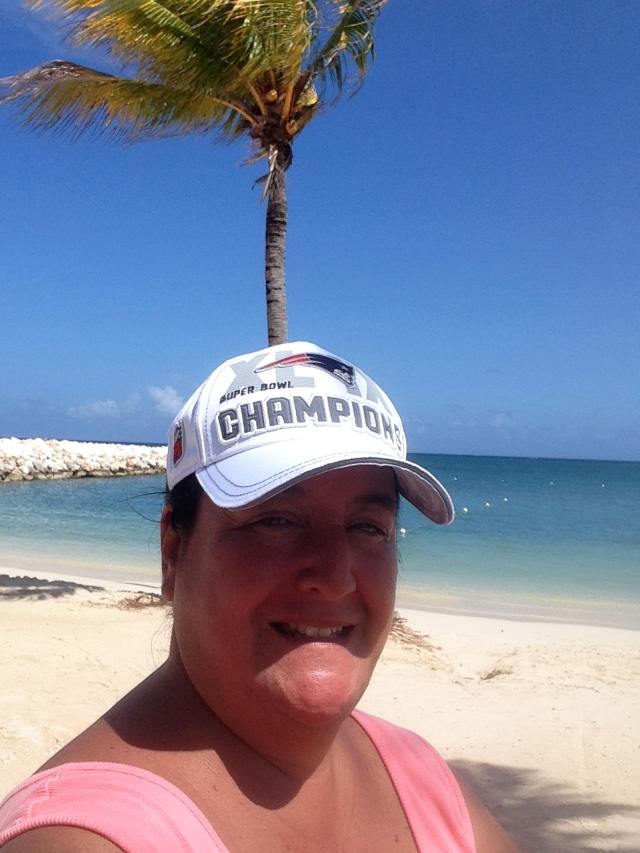 keg beach selfie