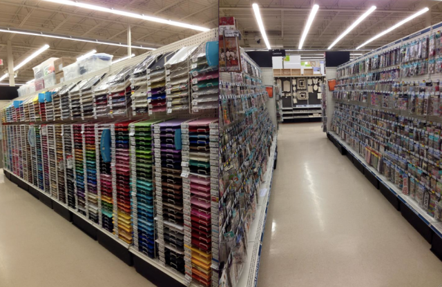 Michaels Scrapbook Aisles