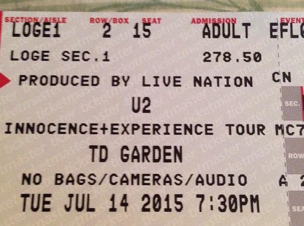 u2 ticket 7/14
