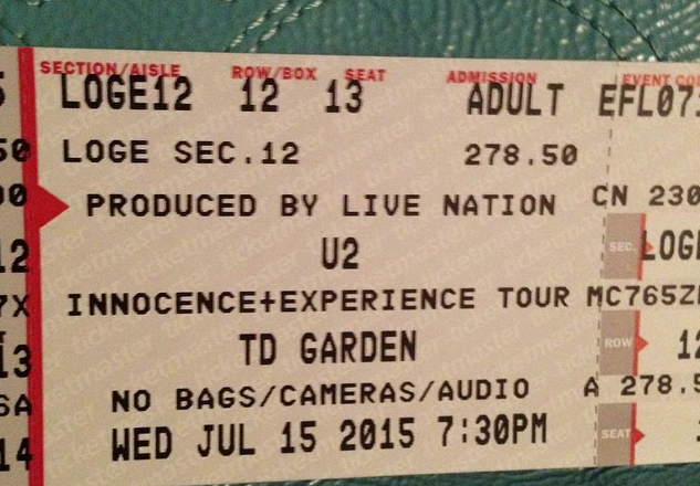 u2 ticket night four Boston