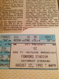 u2 August 22, 1992