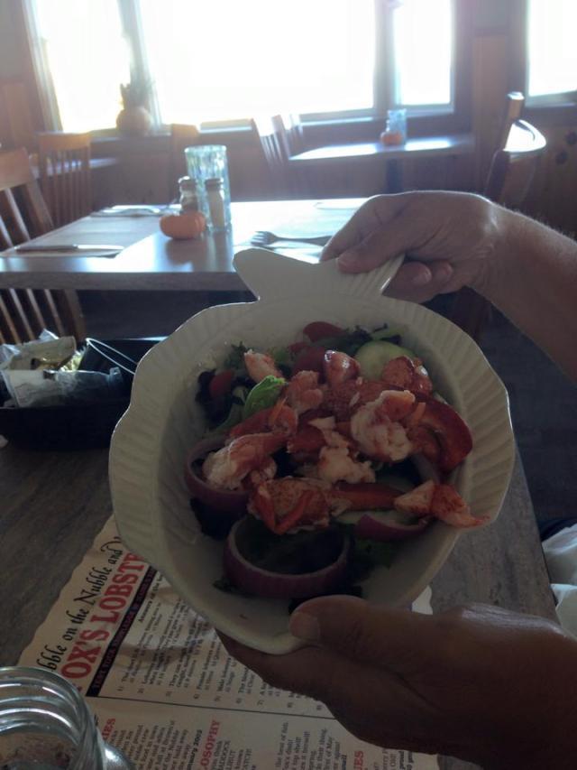 Mom lobster salad