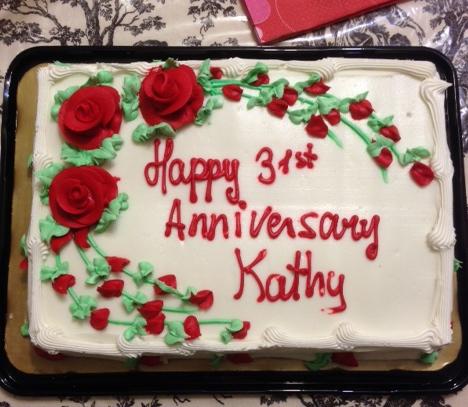 31 year anniversary cake