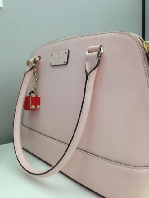 pale pink ks bag