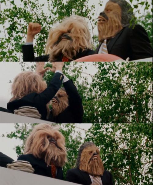 StepBrothes Movie ending Chewbacca masks