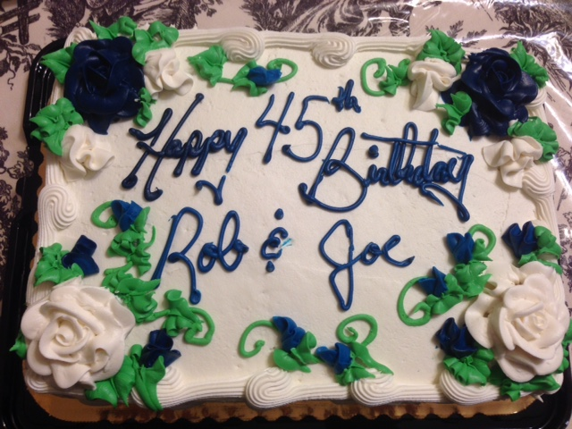 twins bd cake