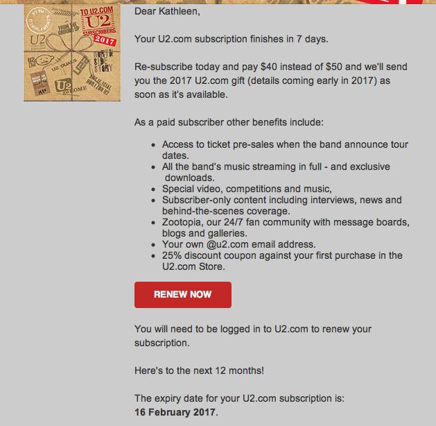 renew u2 subscription